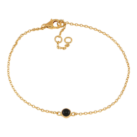 Nordahl Jewellery armband Sweets guld med svart onyx