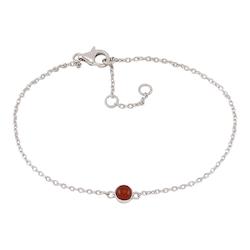 Joanli Nor armband Sweets silver med röd onyx