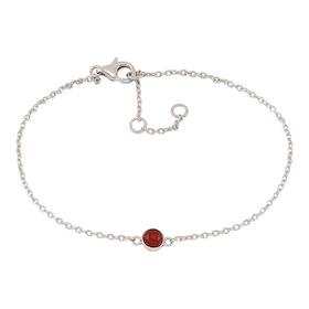 Nordahl Jewellery armband Sweets silver med röd onyx
