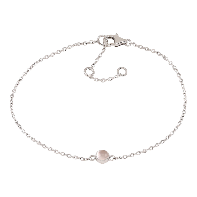 Nordahl Jewellery armband Sweets silver med rosa kvarts