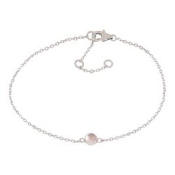 Joanli Nor armband Sweets silver med rosa kvarts