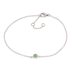 Nordahl Jewellery armband Sweets silver med grön aventurin
