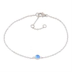 Joanli Nor armband Sweets silver med blå kalcedon