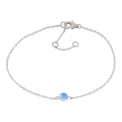 Nordahl Jewellery armband Sweets silver med blå kalcedon