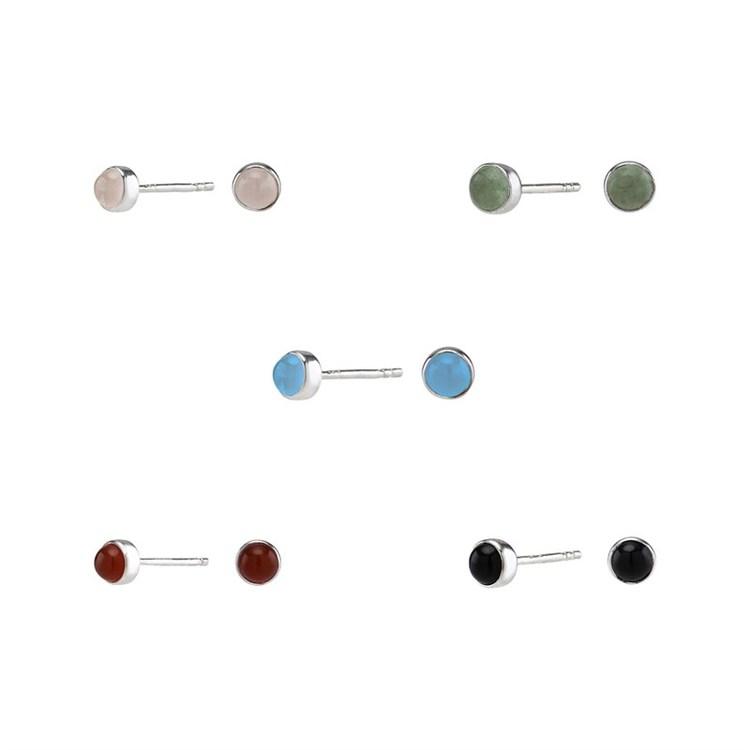 Nordahl Jewellery örhängen Sweets silver med blå kalcedon