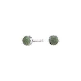 Nordahl Jewellery örhängen Sweets silver med grön aventurin