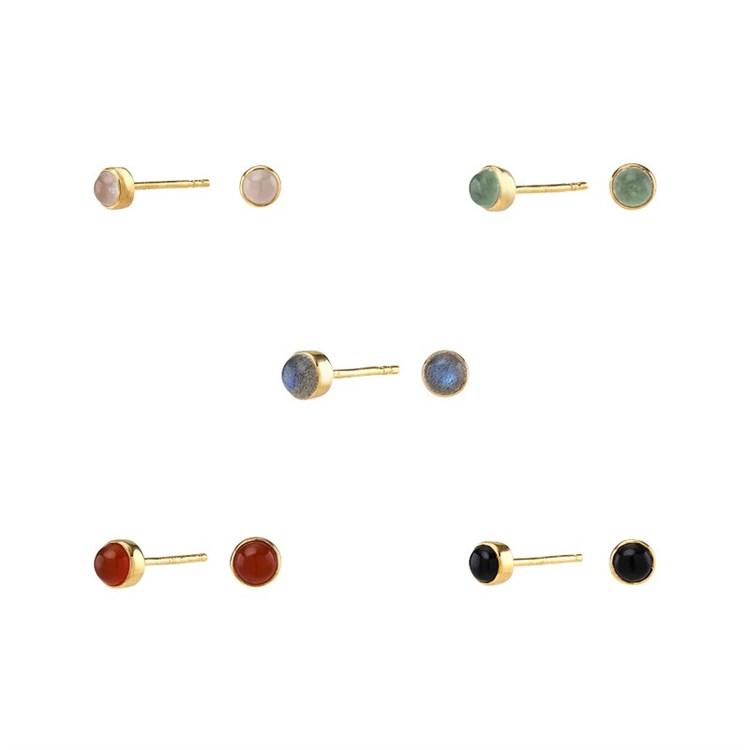 Nordahl Jewellery örhängen Sweets guld med svart onyx