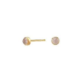 Nordahl Jewellery örhängen Sweets guld med rosa kvarts