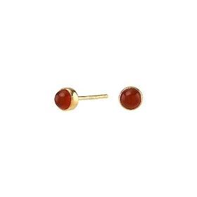 Nordahl Jewellery örhängen Sweets guld med röd onyx