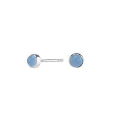 Joanli Nor örhängen Sweets silver med blå kalcedon