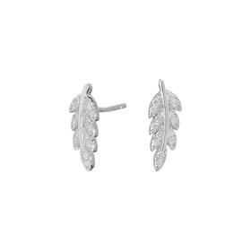 Joanli Nor örhängen Alexa feather silver