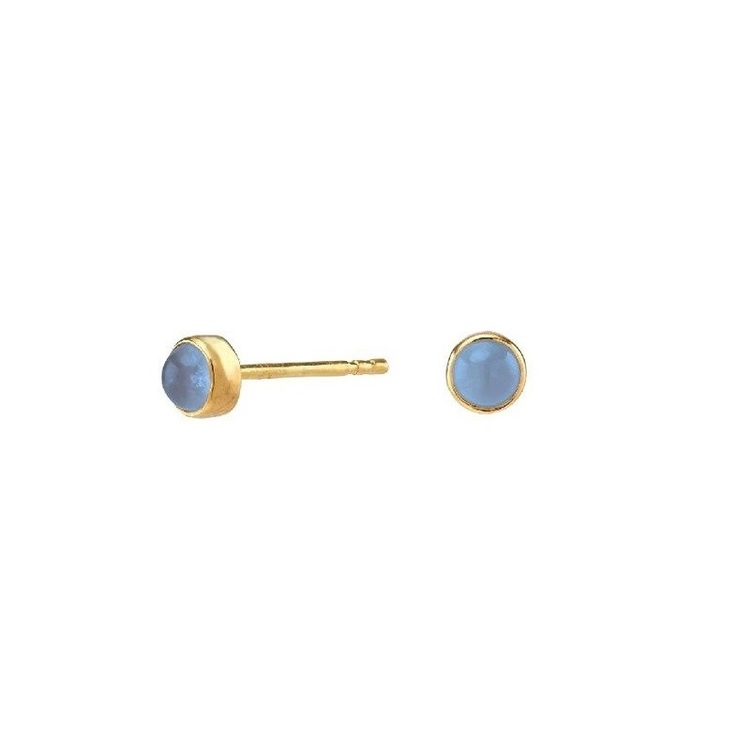 Nordahl Jewellery örhängen Sweets guld med blå kalcedon