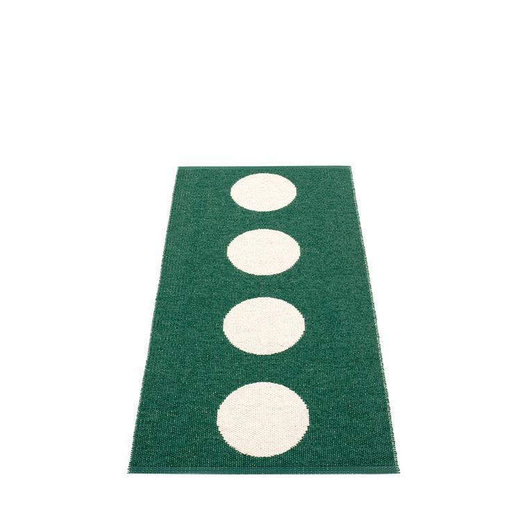 Pappelina matta Vera Dark green · Vanilla 70x150 cm