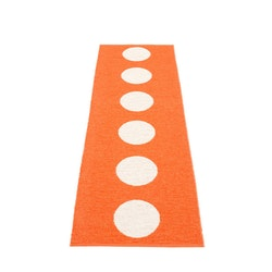 Pappelina matta Vera Orange· Vanilla 70x225 cm