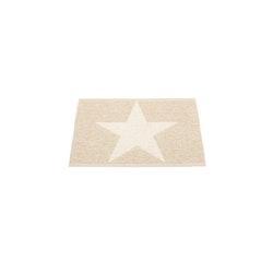 Pappelina matta Viggo Star champagne metallic · vanilla 70x50 cm