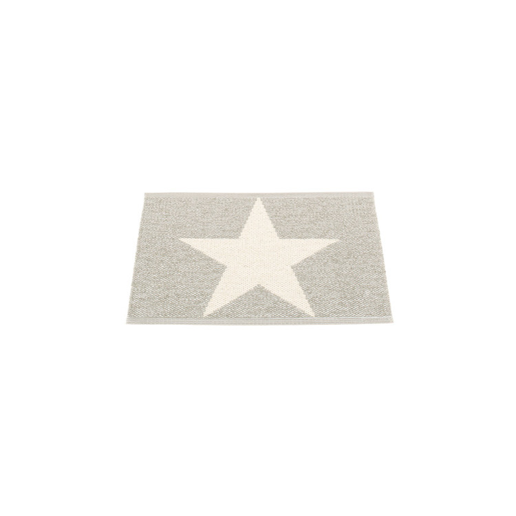 Pappelina matta Viggo Star stone metallic · vanilla 70x50 cm