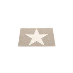 Pappelina matta Viggo One mud · vanilla 70x50 cm