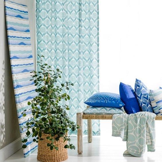 Spira of Sweden Blomma kuddfodral blå