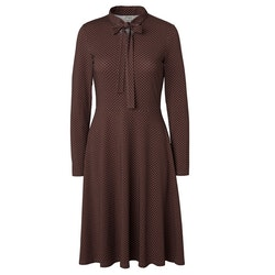 Jumperfabriken Elvy Dot dress brown