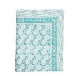 Chamois Small Paisley duk 150x230 cm turquoise