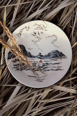 Arabia Mumin serveringsskål Trogen sitt ursprung