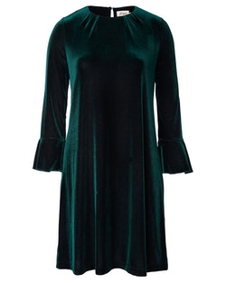 Jumperfabriken Imogen velvet dress green