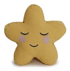 Roommate Stjärna kudde gul