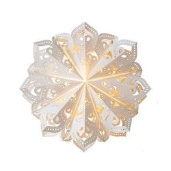 Snowflake julstjärna Caroline 46 vit
