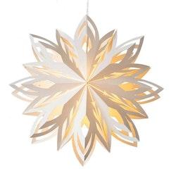 Snowflake julstjärna Ellen 45 vit