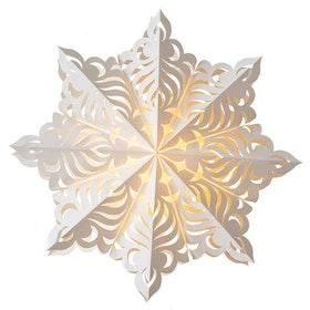 Snowflake julstjärna Sara 60 vit