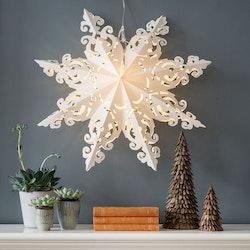 Snowflake julstjärna Hanna 64 vit