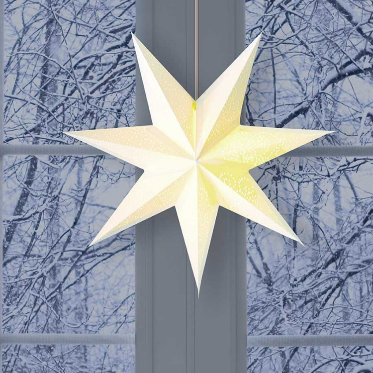 Snow julstjärna Frederik 45 vit