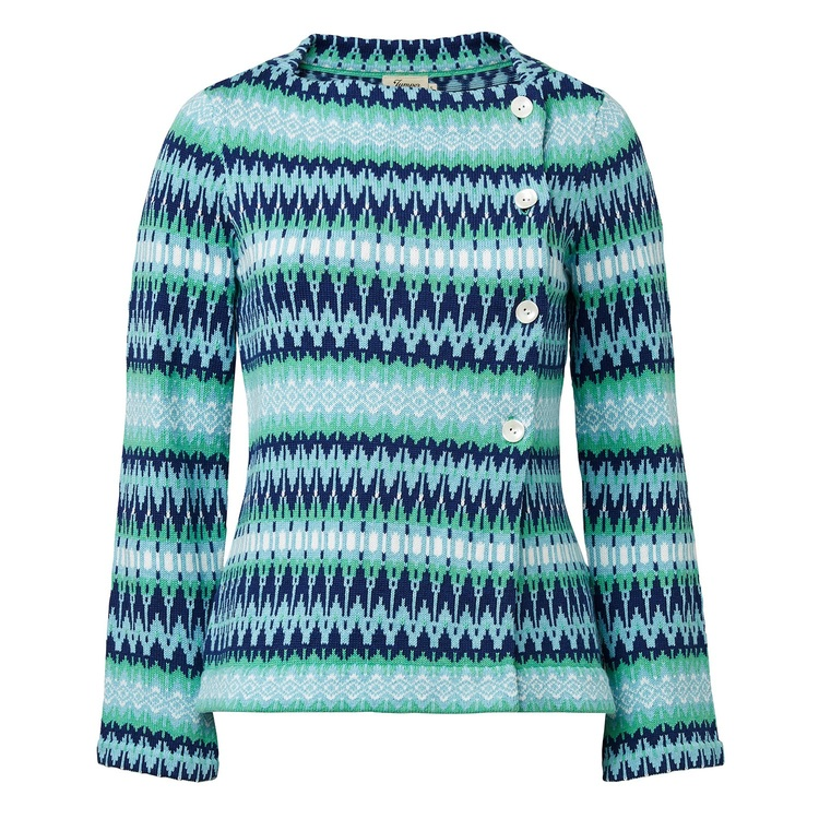 Jumperfabriken Siv cotton cardigan green