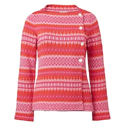 Jumperfabriken Siv cotton cardigan cerise