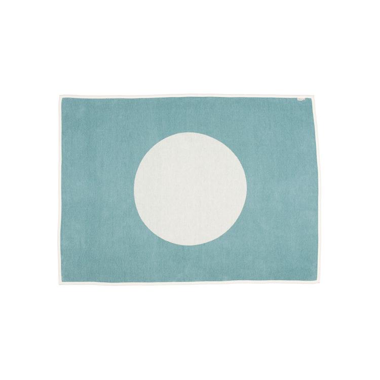 Pappelina pläd Vera turquoise · vanilla