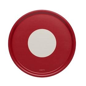 Pappelina rund bricka Vera red