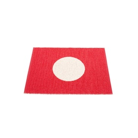Pappelina matta Vera small one red · vanilla 70x90 cm