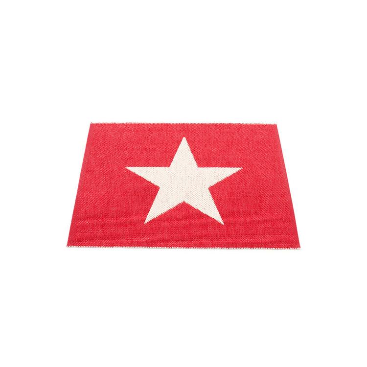 Pappelina matta Viggo Small One Red · Vanilla 70x90 cm