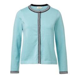 Jumperfabriken Ingalill cardigan turquoise