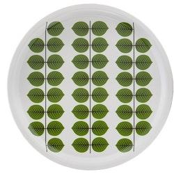 Stig Lindberg Berså rund bricka 31 cm grön