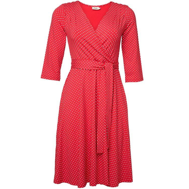 Jumperfabriken Celia Dot dress red