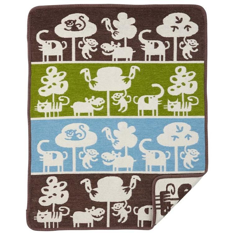 Klippan Yllefabrik chenillefilt Safari brun