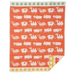 Klippan Yllefabrik bomullsfilt Africa orange