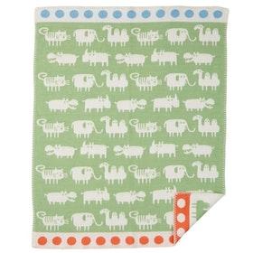 Klippan Yllefabrik bomullsfilt Africa grön
