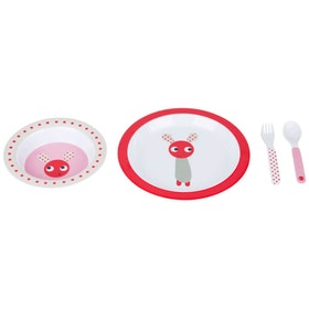 Färg&Form Skummis melaminset röd/rosa