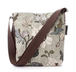 Ceannis Flower Linen Small Shoulder Bag soft green