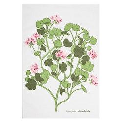 Almedahls Pelargonia kökshandduk rosa