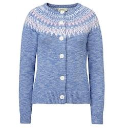 Jumperfabriken Joelle cotton cardigan blue