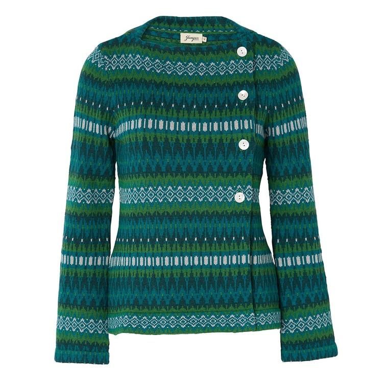 Jumperfabriken Siv cotton cardigan green AW19