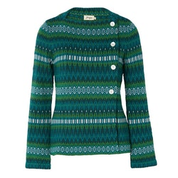 Jumperfabriken Siv cotton cardigan green AW19